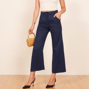 Reformation Cropped Linen pant